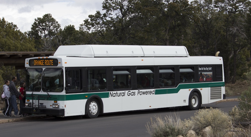 Natural Gas Powered Bus at Grand Canyon