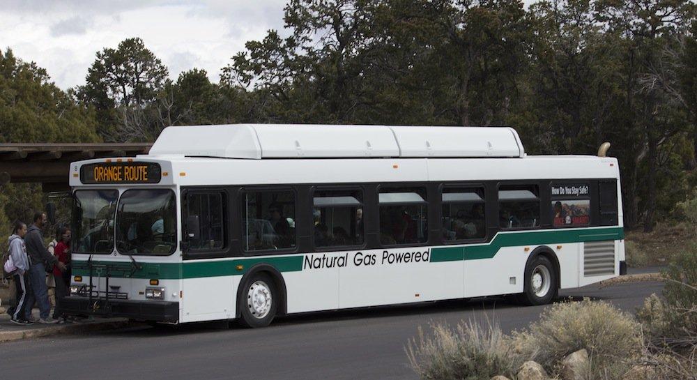 Natural Gas Powered Bus at Grand Canyon